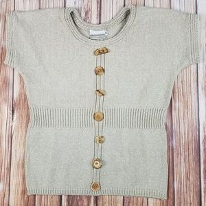 Cotton Sweater with Wooden Buttons Sz M